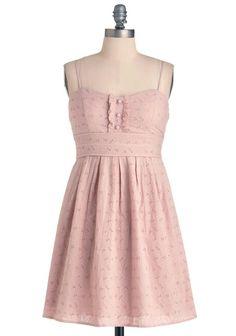 Light pink eyelet dress