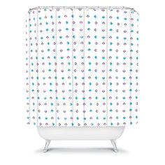Laura Redburn Pastel Arrows Shower Curtain #dot #chevron #pattern #pastel #home #decor #bath #bathroom
