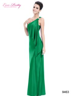 Gorgeous Sexy Green One Shoulder Diamantes Long Evening Dress