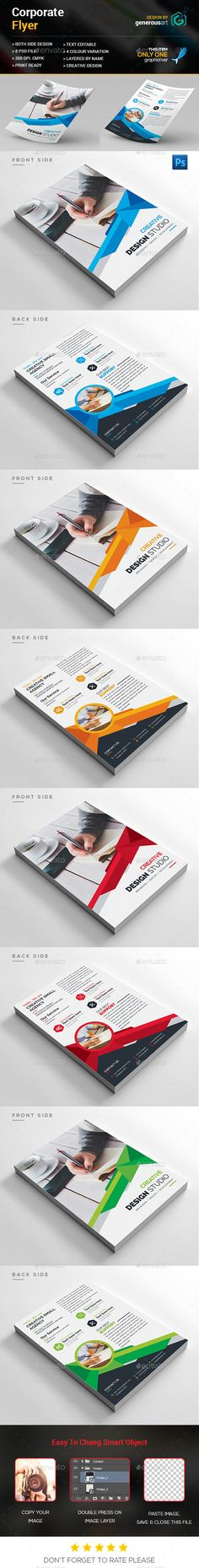 Buy Corporate Flyer by generousart on GraphicRiver. File Information: Easy Customizable and Editable Size CMYK Color Design in 300 DPI Resolution Print Ready. Corporate Flyer, Corporate Design, Flyer Design, Web Design, Graphic Design, Flyer Printing, Print Templates, Editorial Design, Flyer Template