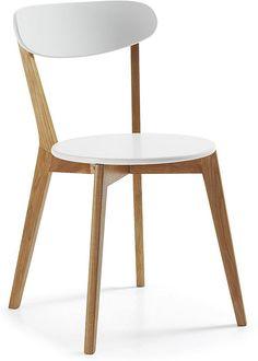 Stuhl Luana - Weiß Naturell - Holz - Kavehome kaufen? - Lilianshouse.de - Wohn- und Lifestylewebshop