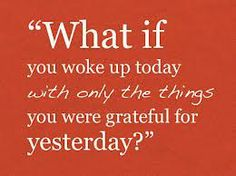 So much to be grateful for.