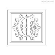 26 Best Alphabet Decorative Stencil Images Free Stencils