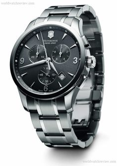 Swiss Watches | Victorinox Swiss Army Alliance Quartz Chronograph watch in stainless ...