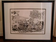 pin and ink,( your house portrait made into note cards.)