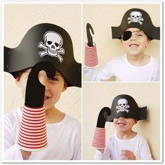 Hoy arranca el carnaval, y con él, una de las fiestas más divertida para los niños. Esta semana hemos realizado este sombrero y garfio de p...