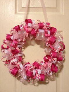 Breast Cancer Wreath