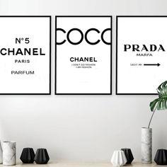 Set of 3 Inspired Coco Chanel Art Print Poster Chanel Prints Prada Prints Prada Marfa Poster Chanel Set Chanel Decor Chanel Print Set. Prada Marfa, Bedroom Layouts, Room Ideas Bedroom, Bedroom Wall, Bedroom Decor, Wall Decor, Master Bedroom, Kids Bedroom, Warm Bedroom
