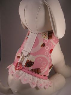 Dog Harness Vest Cupcake Sweetheart by tamstarrcouture on Etsy. Yorkie Clothes, Pet Clothes, Dog Clothing, Yorkshire, Heavy Duty Velcro, Puppy Gifts, Small Dog Clothes, Pug, Dog Items