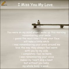 i miss you baby poems for her