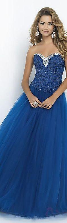 Fashion Natural Long Princess Sleeveless Tulle Evening Dress lovelylovelydresses16017verew #longdress #promdress