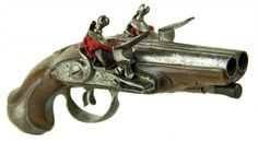 FINE DOUBLE BARREL FRENCH CARRIAGE PISTOL LATE 18TH CENTURY