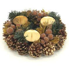 Svietnik vianočný tri sviečky
