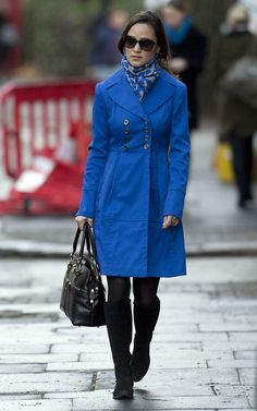 Pippa- love this color trench