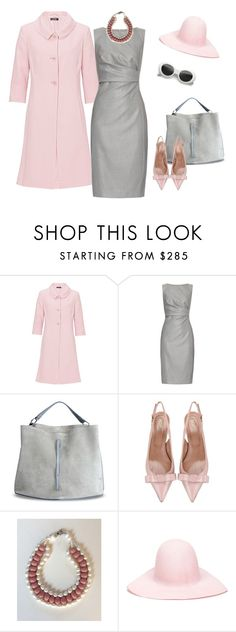 """""""Pink and grey"""" by catalina86 ❤ liked on Polyvore featuring Vera Mont, MaxMara, Maison Margiela, RED Valentino and REINHARD PLANK"""