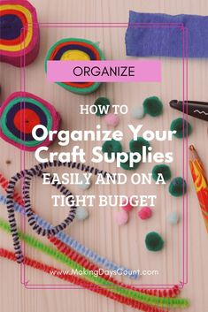 Do you have a messy craft closet like I did? Here are 8 steps to organize a craft closet that you can do within a day or two on a budget. #craftsupplies #organization Free Planner, Planner Template, Easy Diy Projects, Home Projects, Home Decor Hacks, The Fragile, Tight Budget, Decorating On A Budget, Craft Supplies