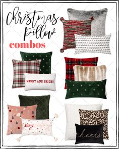 christmas pillows, christmas decor, christmas home, throw pillow combos Target Christmas Decor, Christmas Table Settings, Farmhouse Christmas Decor, Diy Christmas Pillows, Christmas Tables, Burlap Christmas, Christmas Centerpieces, Farmhouse Decor, Bohemian Christmas