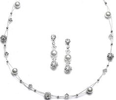 Cultured 6mm Swarovski Pearls, 4mm Crystals & Rhinestone FireBalls Illusion Jewelry 24 Colors