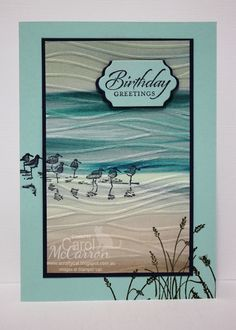 This is an awesome card made using the Wetland Stamp Set by Stampin Up