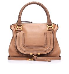 Leather bag with hand/shoulder handles with side shoulder-strap by @Chloe