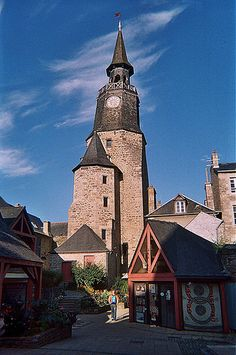 la tour de l'horloge, Dinan, Bretagne