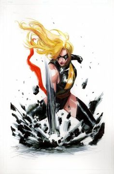 Miss Marvel by Gabriele Dell'Otto Ms Marvel Captain Marvel, Miss Marvel, Captain Marvel Carol Danvers, Marvel Heroes, Comic Book Characters, Marvel Characters, Comic Character, Comic Books Art, Comic Art