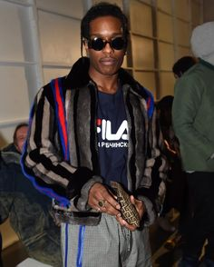 The Dreamer LDN — A$AP Rocky attends the Raf Simons show during...