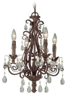 See the Craftmade Exteriors Englewood - French Roast 4 Light Chandelier in French Roast. Find luxury home lighting online. Dining Chandelier, Crystal Chandelier Lighting, Empire Chandelier, Wagon Wheel Chandelier, Room Lights, Ceiling Lights, Light Chain, Elegant Chandeliers, Classic Lighting