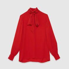 Королева лето футболки мужские полное рукава с бантом и кнопку назад элегантный красный блузки Большой размер красный сексуальная блузка женщины новинка