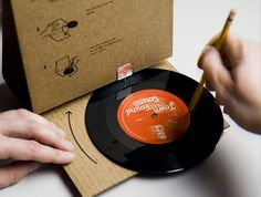 Reinvention of the record-playing cardboard package developed by the GRN (the Global Recording Network), a Christian missionary organization.