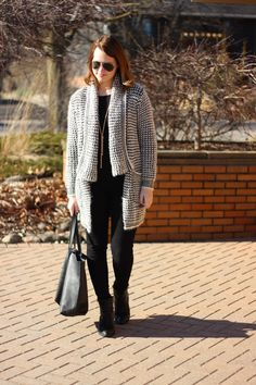 Shein Cardigan, Vince Camuto Booties