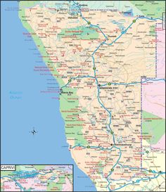 Image result for road map of namibia