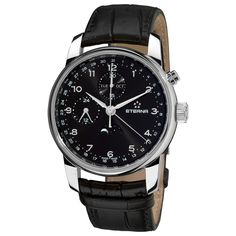Eterna Men's 8340.41.44.1175 'Soleure' Dial Strap Moon phase Date Day Swiss Automatic Watch