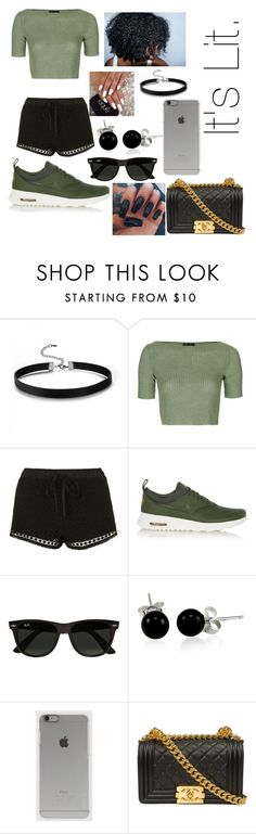 """""""This took me a while. Why? Idk."""" by liyahismee on Polyvore featuring Topshop, NIKE, Ray-Ban, Bling Jewelry, Incase and Chanel"""