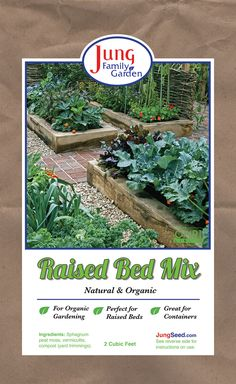 Jung Family Garden Raised Bed Mix - National Garden Bureau - Not just for raised beds, but all your potting needs. Our special, soilless bl. Garden Soil, Raised Garden Beds, Raised Beds, Balcony Railing Planters, Weed Seeds, Peat Moss, Family Garden, Types Of Soil, Compost