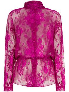 Lavalliere dentelle lace blouse