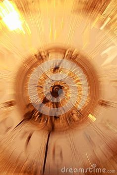 A surreal timepiece zooms into focus.