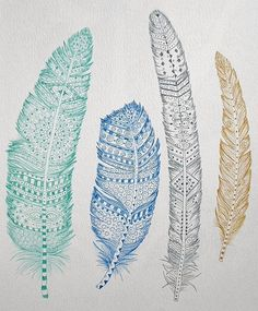 Feathers ~ artist ChubbyMermaid   . . . .   ღTrish W ~ http://www.pinterest.com/trishw/  . . . .  #art #journal