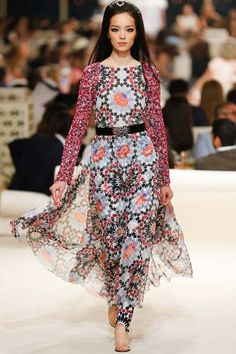 Chanel Resort 2015 Collection via style.com - this pattern is beautiful!