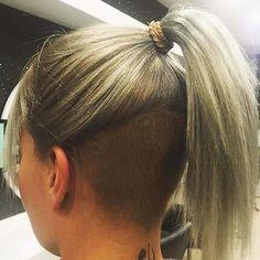 aa33453858cf664d79fe011c109b62d6 | Bobby Ocean | Flickr Pixie Undercut Hair, Undercut Ponytail, Long Hair Ponytail, Undercut Hairstyles, Blonde Ponytail, Blonde Hair, Short Hairstyles For Women, Trendy Hairstyles, Hc Hair