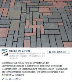 Hakenkreuz in Goslarer Fußgängerzone - Polizei ermittelt - Yahoo Nachrichten Deutschland