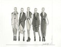 Fashion Sketchbook - fashion design drawings, collection lineup - fashion illustration; fashion portfolio // Jannika Lilja