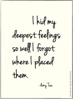 Quotable - Amy Tan