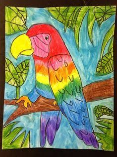 Image result for rainforest parrot art for kids   Parrots art ...