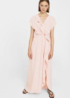 Robe fluide volantée -  Femme | MANGO France