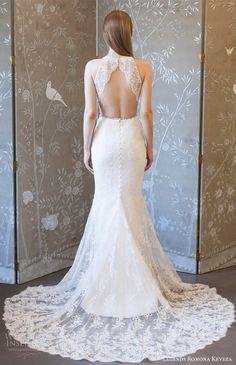 legends romona keveza spring 2018 bridal sleeveless deep v neck lace sheath wedding dress (l8127) mv keyhole back elegant romantic long train -- Legends Romona Keveza Spring 2018 Wedding Dresses