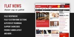 Flat News: Blogger Portal Teması