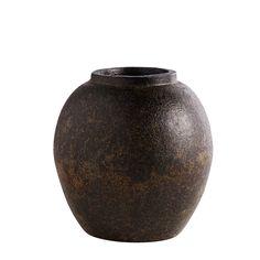 21 x 21 cm Stor rustic terracotta vase fra Muubs hos Barkshop kr. 389,-