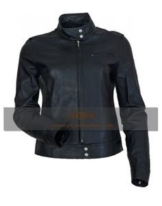 High 5 Black Women Celebrity leather jacket Best selling Mens Biker Jackets at styloleather.com