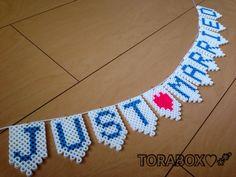 JUST♡MARRIED garland perler beads by TORABOX♡*